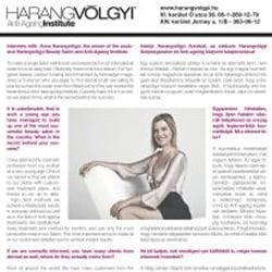Harangvölgyi Institute Budapest a médiaszereplés
