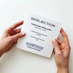KLEANTHOUS SKINJECTION instant hydro lifting patch – nyak és dekoltázs lapmaszk 1db